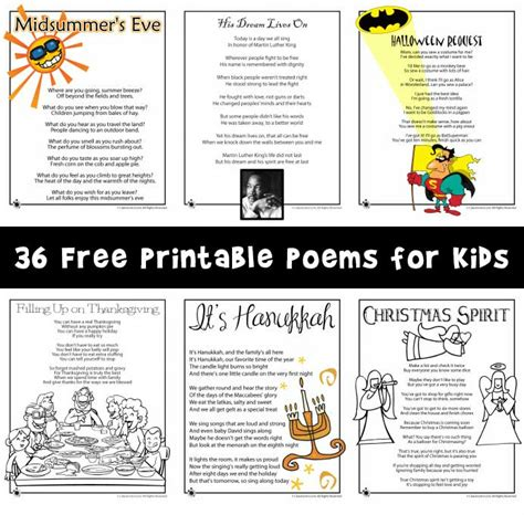 Printable Children S Poems | poems for kids woo jr kids activities