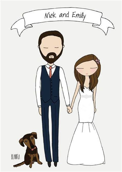 Wedding Illustration by Custom Wedding Illustration Digital File You Can Use On