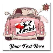 Ausmalbild Auto Just Married by Just Married Square Car Magnet 3 Quot X 3 Quot Hochzeit