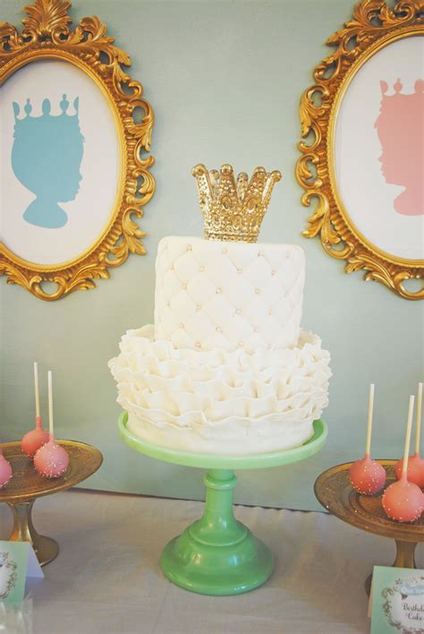 Royal Themed Baby Shower by Reveal A Royal Baby Shower Project Nursery