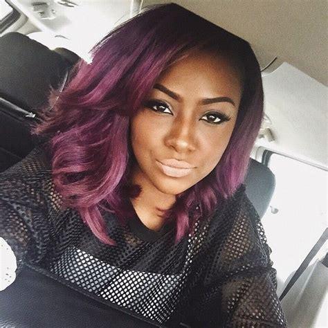purple weave on black women styles by dominique nicole vissa studios of 22 new purple