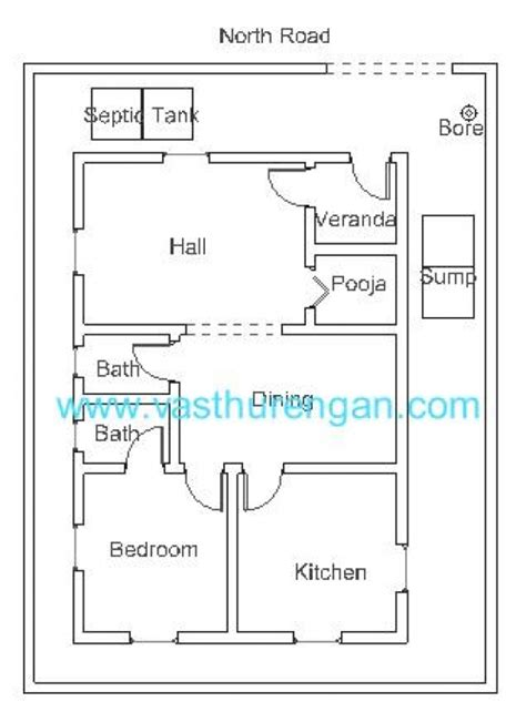 Vastu Floor Plans North Facing | vastu plan for north facing plot 2 vasthurengan com