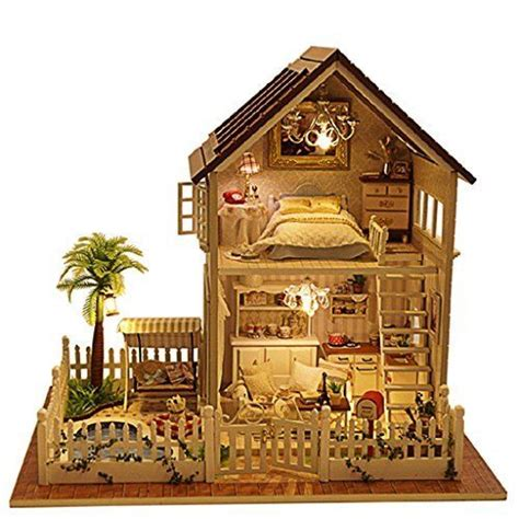 rylai dollhouses wooden handmade dollhouse miniature diy