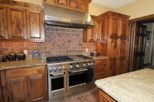 Picture Of Backsplash Kitchen Brick Backsplash In The Kitchen Presented With Soft Colors Combination Mykitcheninterior