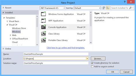 web api tutorial visual studio 2013 use owin to self host asp net web api 2 the asp net site