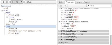 format html code in atom 1 node overview dom enlightenment book