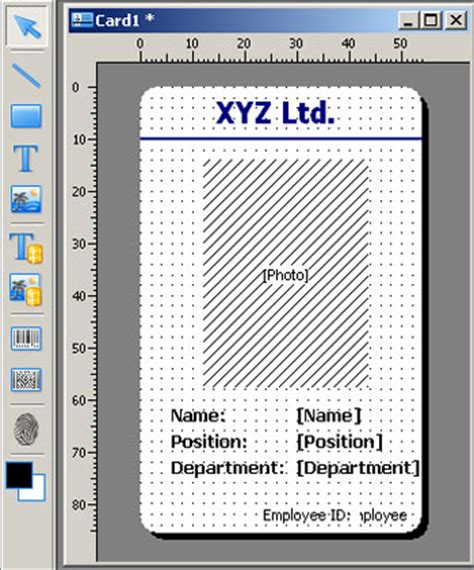 sle id layout free download id card software