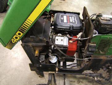 i deere 400 lawn tactor with kohler 19 9 hp engine