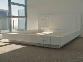 white platform bed with headboard abaci oak platform bed white lacquer headboard with