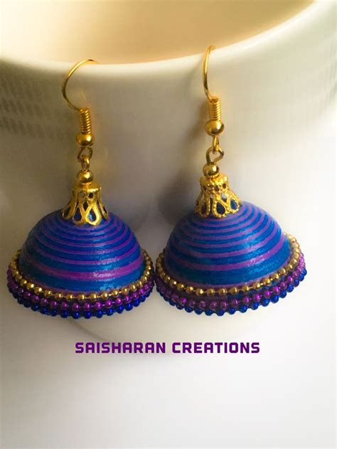 Paper Jhumkas - 1000 images about paper quilling jhumkas jewelry on