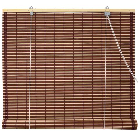Bamboo Roll Up Blinds burnt bamboo roll up blinds mahogany ebay