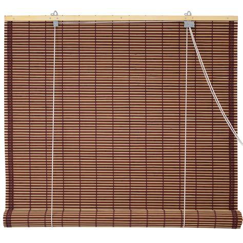 Bamboo Roller Blinds Burnt Bamboo Roll Up Blinds Mahogany Ebay