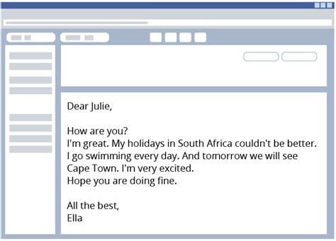 E Mail Brief Beispiel E Mails Briefe Schreiben Englisch Klasse 5 6 Kapiert De