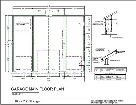 plans for garage custom 36 x 46 rv garage plans free house plan reviews