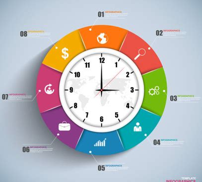 clock layout vector clock free vector download 608 free vector for