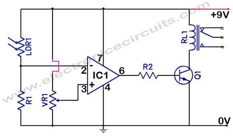 light sensor circuit using ldr ldr light