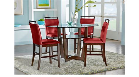 cappuccino dining room furniture collection ciara espresso 5 pc counter height dining set contemporary