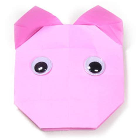 How To Make Paper Pig - how to make an easy origami pig page 19