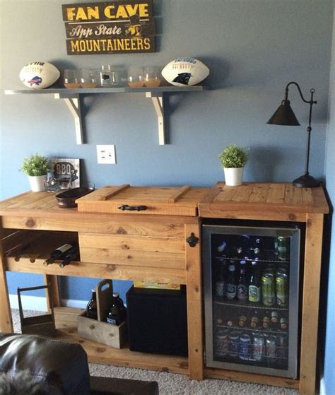 idea   kitchen cart built  wine cooler home