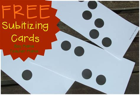 printable dot cards for subitizing teacher mama free subitizing dot cards after school