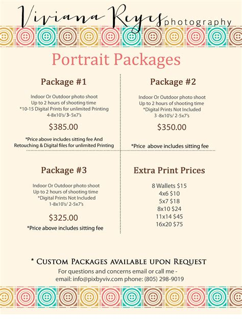 Portrait Photography Pricing by Pricing Information Portrait Event Photography
