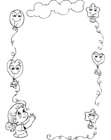 Pintar Y Colorear Tu Pagina Para Colorear Tus Imagenes laminas de bordes en blanco y negro para enmarcar tus dibujos
