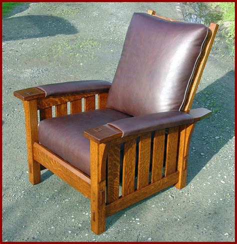 stickley morris chair recliner voorhees craftsman mission oak furniture gustav stickley