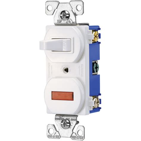 shop cooper wiring devices  amp white combination light