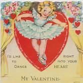 Vintage Valentine - Ballerina My Valentine