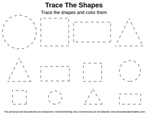 printable tracing shapes worksheets free tracing shapes worksheet educational printables