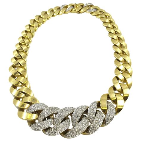 Handmade Cuban Link Chain - italian gold cuban link necklace with chain at 1stdibs