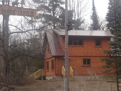 Sleeping Dunes Cabin Rentals by Recently Built Log Cabin Home Just Minutes Vrbo