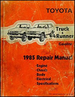 1985 toyota pickup truck 4runner repair shop manual original gasoline 1985 toyota pickup truck 4runner repair shop manual original gasoline