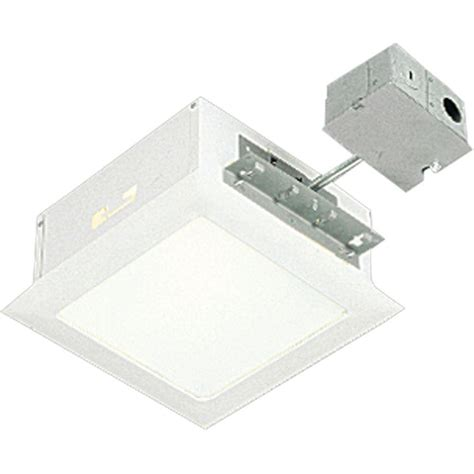Light Fixture Housing Progress Lighting 11 5 In White Square Recessed Lighting Housing And Trim P6416 30tg The Home