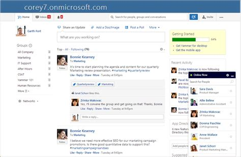 a look at the new simplified yammer login with office 365