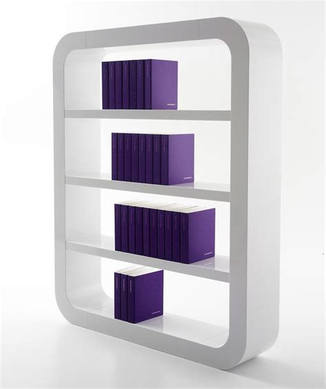 minimalist rounded bookcases shelf 2 4 by signalement