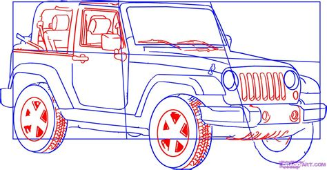 jeep wrangler front drawing how to draw a jeep wrangler step by step suvs