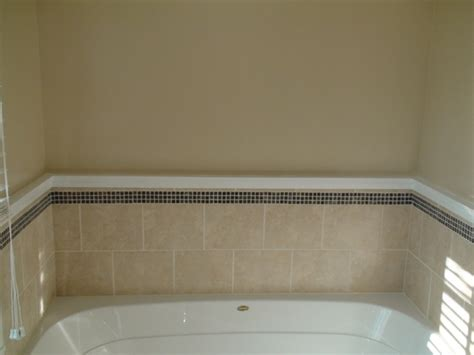 bathtub trim master bathroom trim grout paint one home made