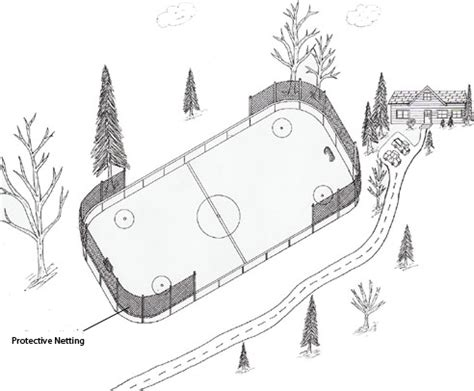 hockey rink coloring pages hockey rink netting keep your pucks in your ice rink