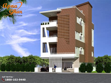 3 floor house design independent floor design apnaghar house design
