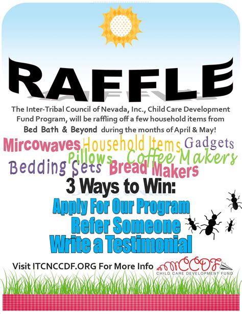 itcn ccdf raffle itcn child care development fund