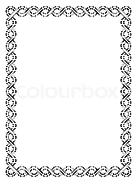 simpel sort ornamental dekorative stock vektor