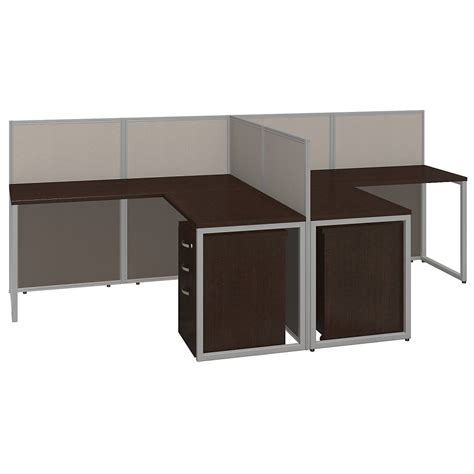 60x60 L Shaped Workstation Desks With Storage Office Cubicle Desks