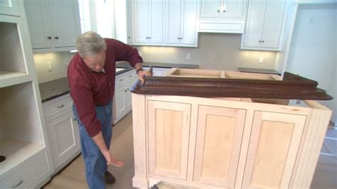 how to install kitchen island cabinets tip for finishing an island cabinet in your kitchen today s homeowner