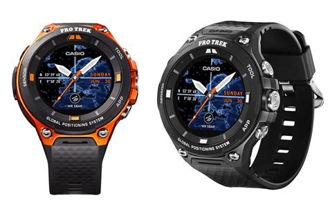 Casio Smartwatch Android casio s new outdoor smartwatch adds gps offline maps and