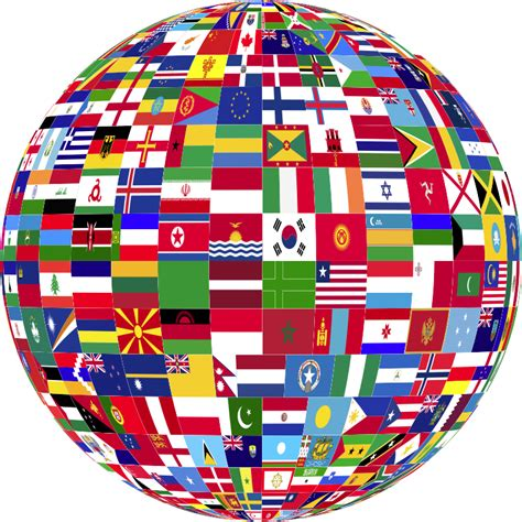 flags of the world download png clipart world flags globe 3