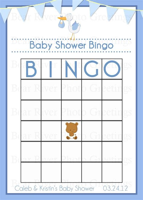 Items similar to baby shower game bingo card printable digital