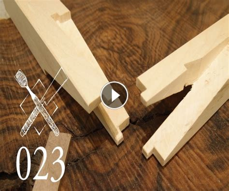 Incredible Woodworking 187 Joint Venture Ep 23 Rabbeted Halved And Pinned Scarf Joint Sumikiri Japanese Scarf Joint Template