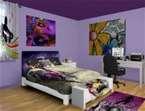 hip hop bedroom and bedding gray purple dance wall art