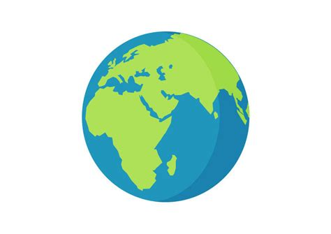planet earth free flat vector icon superawesomevectors